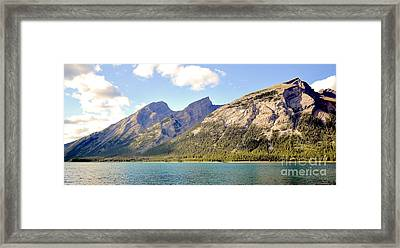 Spray Lake Mountains Framed Print