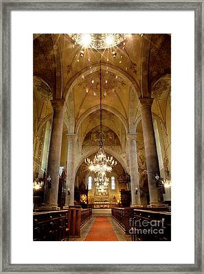 Spray Light Of Worship Framed Print by Ladi  Kirn