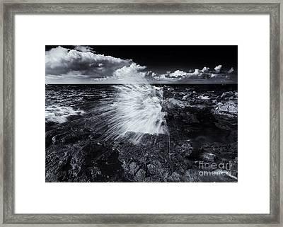 Spray Framed Print by Mike  Dawson