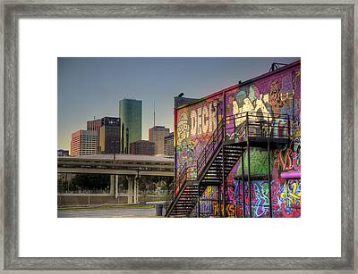 Spray Paint Sunset Framed Print by Micah Goff
