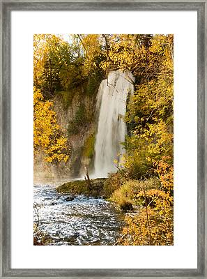 Spray Rises From Spearfish Falls Framed Print