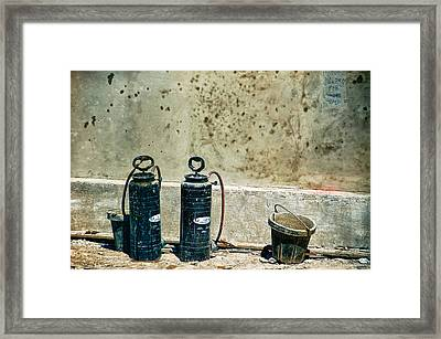 Framed Print featuring the photograph Sprayers And Buckets by Trever Miller