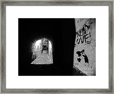 Spread Love Framed Print by Andy Prendy