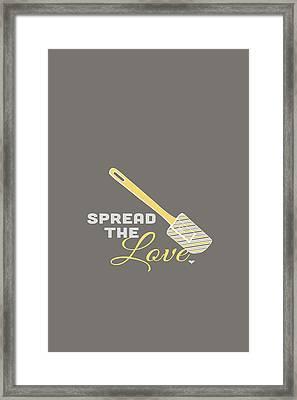 Spread The Love Framed Print by Nancy Ingersoll