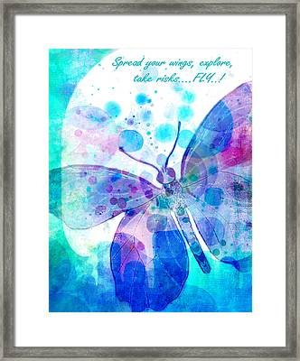 Spread Your Wings Framed Print by Robin Mead