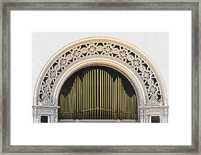 Spreckels Organ Balboa Park San Diego Framed Print