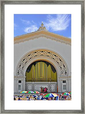 Spreckles Organ San Diego Framed Print by Christine Till