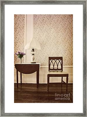 Sprig Of Lilacs Framed Print by Margie Hurwich