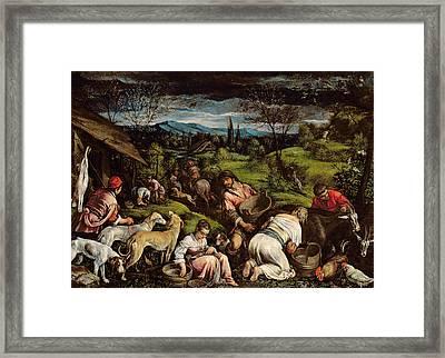 Spring, 1576 Framed Print by Francesco Bassano