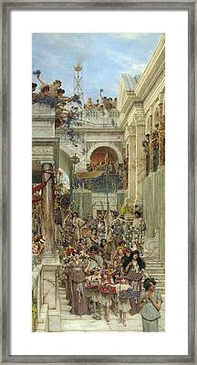 Spring Framed Print by Sir Lawrence Alma-Tadema