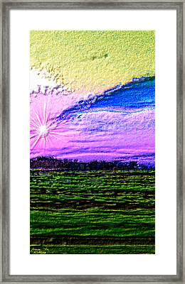 Spring 3-d Sunset Framed Print