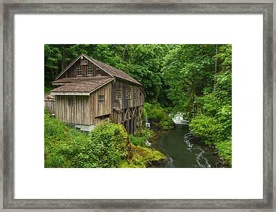 Spring At Cedar Creek Grist Mill Framed Print by Patricia Davidson