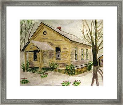 Spring At Frantz School Framed Print by Angela Davies