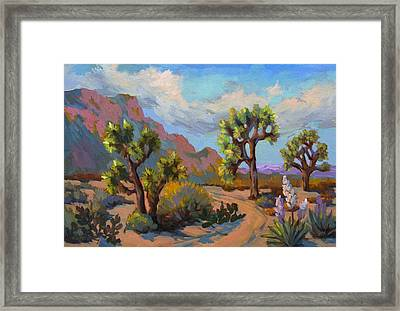 Spring At Joshua Framed Print