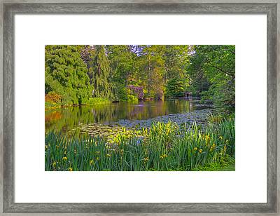 Spring Morning At Mount Auburn Cemetery Framed Print