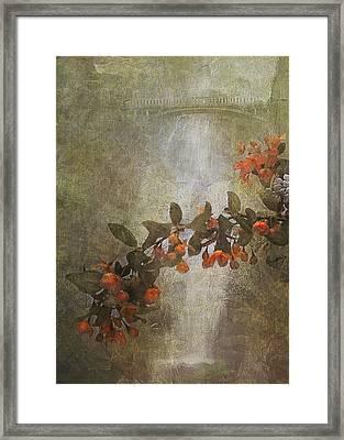 Spring At Multnomah Falls Framed Print by Jeff Burgess