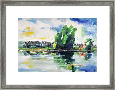 Spring At River Elbe Near Doemitz Germany Framed Print by Barbara Pommerenke