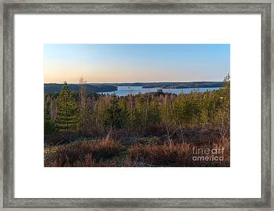 Spring At The Lake Hiidenvesi Framed Print
