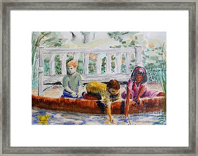 Spring At The Pond Framed Print