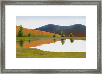 Spring At Three Sisters Pond Framed Print by Bruce Richardson