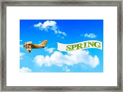 Spring Banner Framed Print