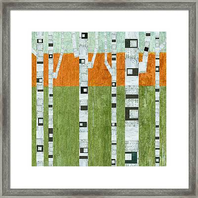Spring Birches Framed Print by Michelle Calkins