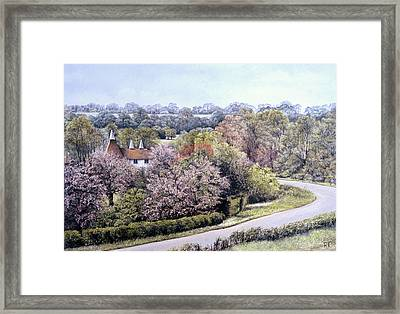 Framed Print featuring the painting Spring Blossom by Rosemary Colyer