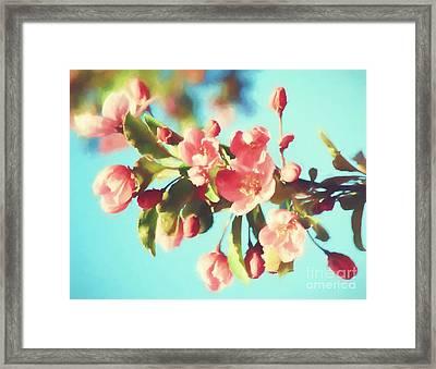 Spring Blossoms In Digital Watercolor Framed Print