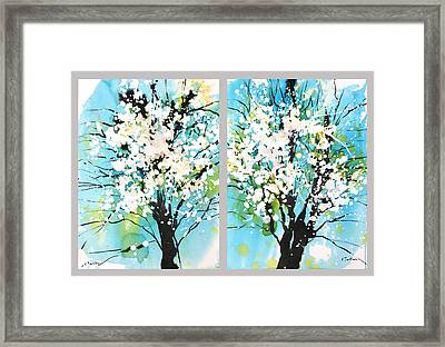Spring Blossoms Framed Print by Sumiyo Toribe