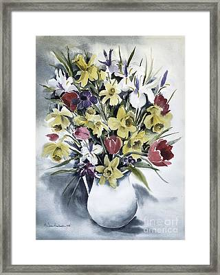 Framed Print featuring the painting Spring Bouquet by Joan Hartenstein