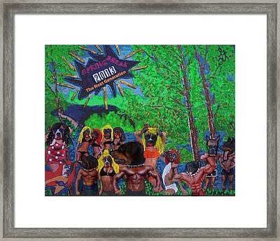 Framed Print featuring the painting Spring Break 2013 by Lisa Piper