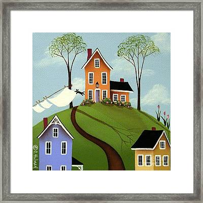 Spring Breeze Framed Print by Catherine Holman