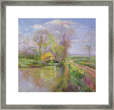 Spring Bridge Framed Print