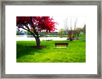 Spring Can't Come Fast Enough Framed Print by David Simons