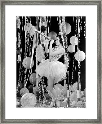 Spring Carnival In Hollywood. Framed Print by Underwood Archives