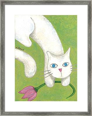 Spring Cat Framed Print