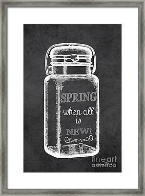 Spring Chalkboard Art-1 Framed Print by Jean Plout
