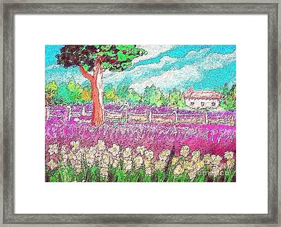 Framed Print featuring the painting Spring Charm by Holly Martinson