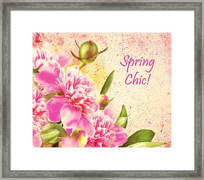 Spring Chic Framed Print by Georgiana Romanovna