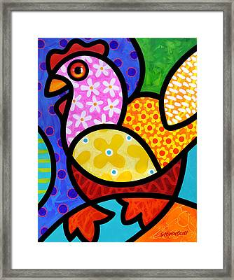 Spring Chicken Framed Print