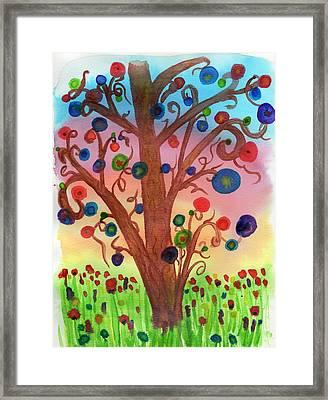 Spring Circles Framed Print