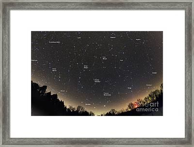 Spring Constellations And Star Colors Framed Print by John Chumack