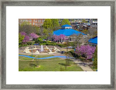 Spring Coolidge Park 2 Framed Print by Tom and Pat Cory