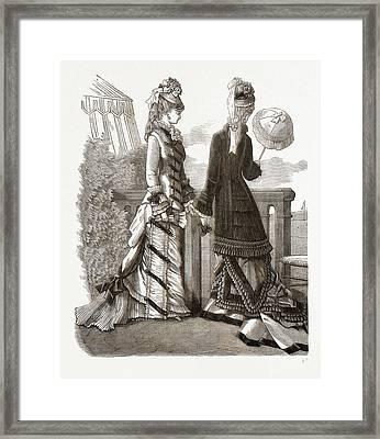 Spring Costumes, 19th Century Fashion Framed Print