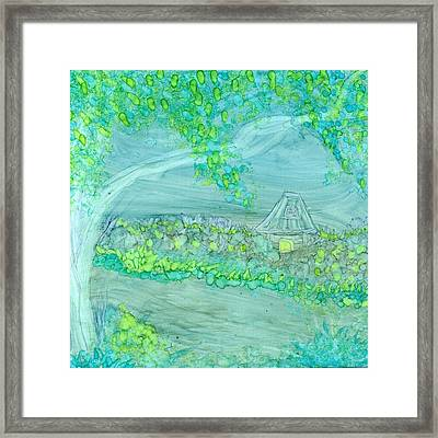 Spring Cottage Framed Print