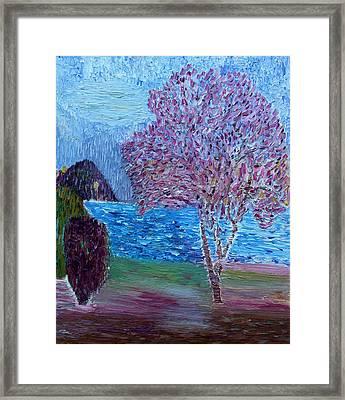 Spring Crabapple Tree Framed Print by Vadim Levin