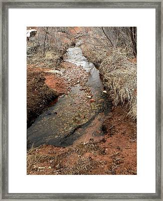 Framed Print featuring the photograph Spring Creek Trail Crossing by Deborah Moen
