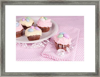 Cupcakes With A Spring Theme Framed Print by Vizual Studio