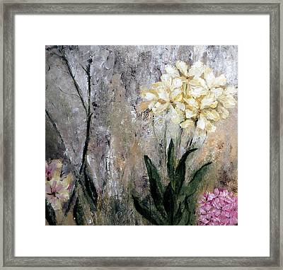 Framed Print featuring the painting Spring Desert Flowers by Lisa Kaiser