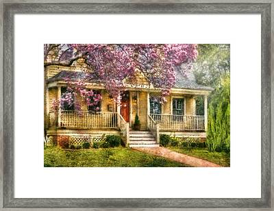 Spring - Door - Vacation House Framed Print by Mike Savad